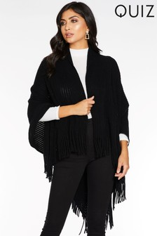 Quiz Shawl Collar Cape