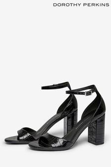Dorothy Perkins Shilling Croc Block Heel Platform Sandal