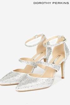 Dorothy Perkins Gingera All Over Diamanté Trim Court Shoe
