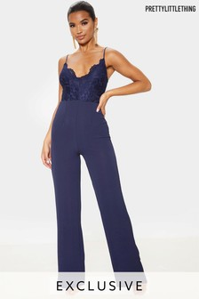 Prettylittlething Lace Wide Leg Jumpsuit