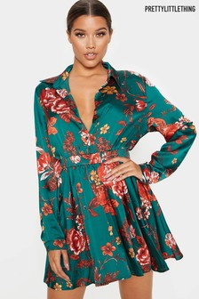 PrettyLittleThing Floral Printed Dress