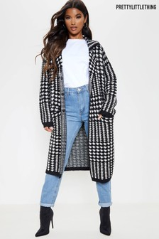 PrettyLittleThing Checked Coatigan