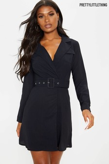 PrettyLittleThing Belted Blazer Dress