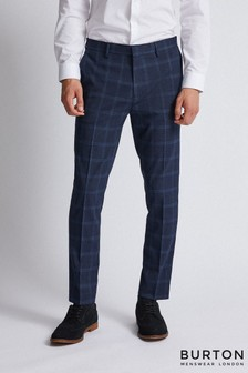 Burton Skinny Windowpane Check Trouser
