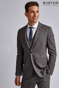 Burton Gingham Skinny Fit Suit Jacket