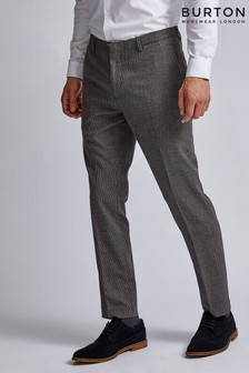 Burton Gingham Skinny Fit Suit Trouser