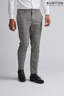 Burton Skinny Retro Check Trousers