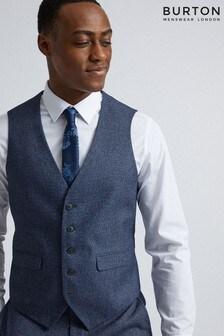 Burton Slim Texture Suit Waistcoat
