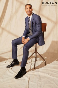 Burton Slim Texture Suit Trousers
