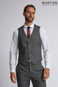 Burton Skinny Fit Pow Check Waistcoat