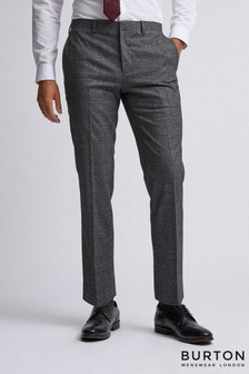 Burton Skinny Fit Pow Check Suit Trousers