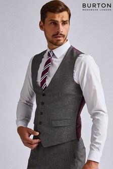 Burton Slim Textured Suit Waistcoat