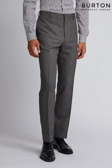 Burton Slim Textured Suit Trousers