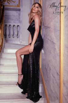 Abbey Clancy x Lipsy Sequin Cowl Maxi Dress