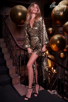 Abbey Clancy x Lipsy Sequin Maxi Dress