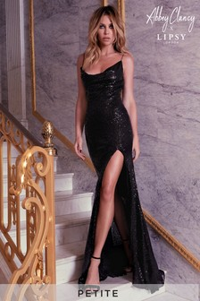 Abbey Clancy x Lipsy Petite Sequin Cowl Maxi Dress