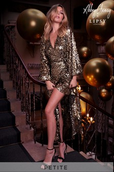 Abbey Clancy x Lipsy Petite Sequin Maxi Dress
