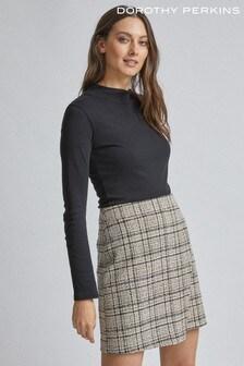 Dorothy Perkins Asymmetric Boucle Mini Skirt