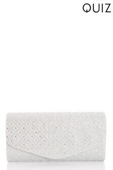 Quiz Textured Shimmer Jewel Bag