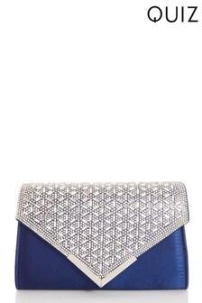 Quiz Jewel Burst Flap Envelope Bag