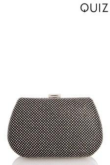 Quiz Diamanté Jewel Front Box Bag