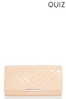Quiz Glitter Quilted Flap Bag