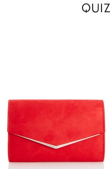 Quiz Faux Leather Envelope Bag