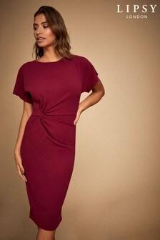 Lipsy Knot Front Midi Dress