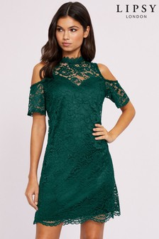 Lipsy Lace Cold Shoulder Dress