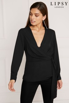 Lipsy Tie Front Wrap Top