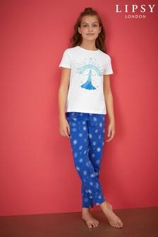 Lipsy Girl Short Sleeve Printed PJ Set
