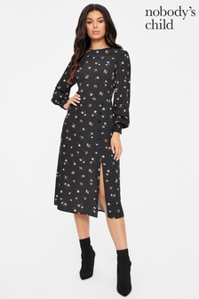 Nobody's Child Georgie Button Detail Dress