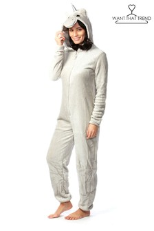 Want That Trend Deluxe Glitter Unicorn Onesie