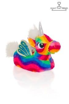 Want That Trend Rainbow Unicorn Slippers