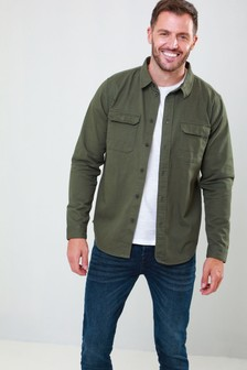 Threadbare Long Sleeve Military Pocket Shirt
