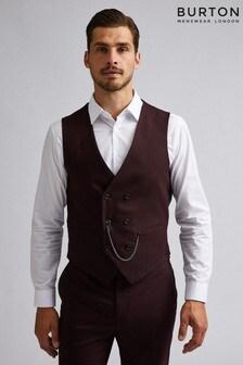 Burton Gingham Slim Fit Suit Waistcoat