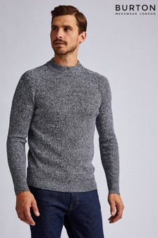 Burton Salt And Pepper Fisherman Crew Jumper