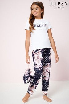 Lipsy Girl Dreams PJ Set With Bag