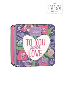 Scottish Fine Soaps Sweethearts Soap Tin With Love 100g
