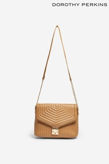 Dorothy Perkins Quilted Pushlock Shoulder Bag