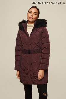 Dorothy Perkins Long Luxe Quilted Coat