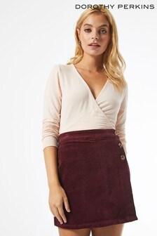 Dorothy Perkins Petite Wrap Cord Skirt