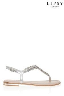 Lipsy Diamanté Flat Sandal