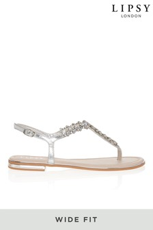 Lipsy Wide Fit Jewel Flat Sandal