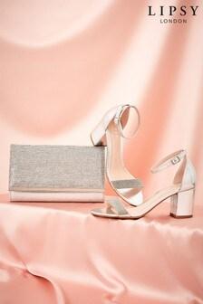 Lipsy Diamanté Block Heel Sandal