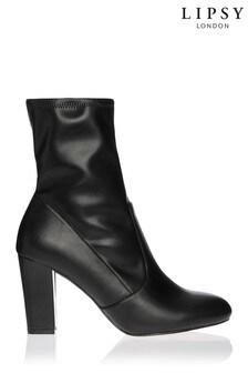 Lipsy PU Stretch Sock Boot