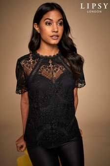 Lipsy Baroque Lace Top
