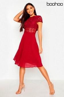 Buy Womens Dresses Skater Skater Dresses Boohoo Boohoo From