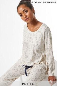 Dorothy Perkins Petite All Over Printed Oat Pyjama Set