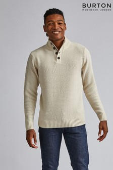 Burton Button Zip Neck Jumper